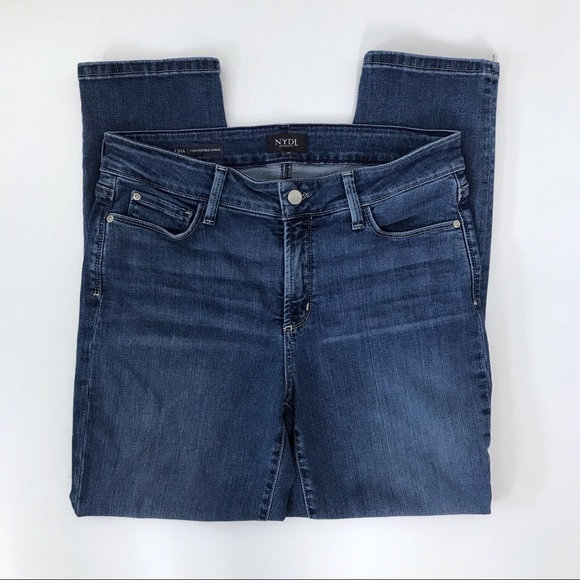 NYDJ Denim - NYDJ 10 Alina Convertible Ankle Jeans Medium Wash